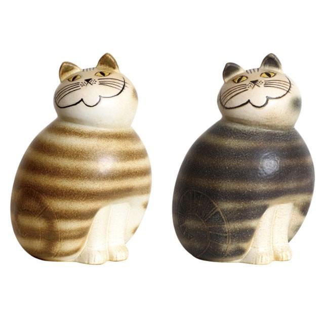 リサラーソン ミア マキシ ブラウン/グレー ねこ 猫 ネコ 北欧雑貨 lisa larson conceptstore
