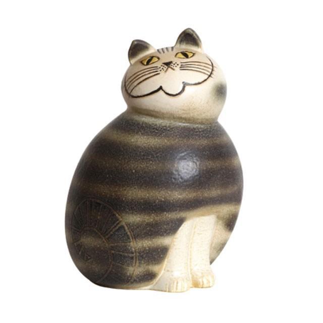 リサラーソン ミア マキシ ブラウン/グレー ねこ 猫 ネコ 北欧雑貨 lisa larson conceptstore 03