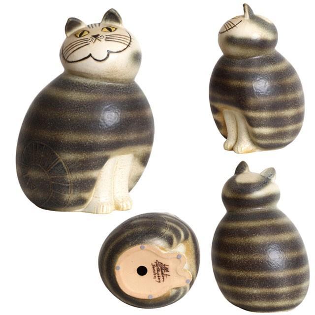 リサラーソン ミア マキシ ブラウン/グレー ねこ 猫 ネコ 北欧雑貨 lisa larson conceptstore 04