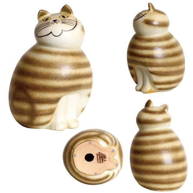 リサラーソン ミア マキシ ブラウン/グレー ねこ 猫 ネコ 北欧雑貨 lisa larson conceptstore 05