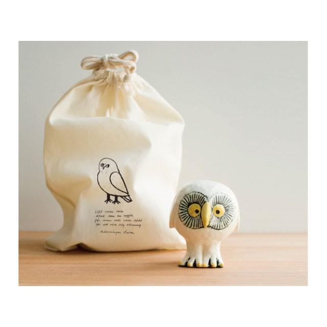 リサラーソン スウェーデンの森の白いふくろう フクロウ 陶器 置物 北欧雑貨 lisa larson conceptstore