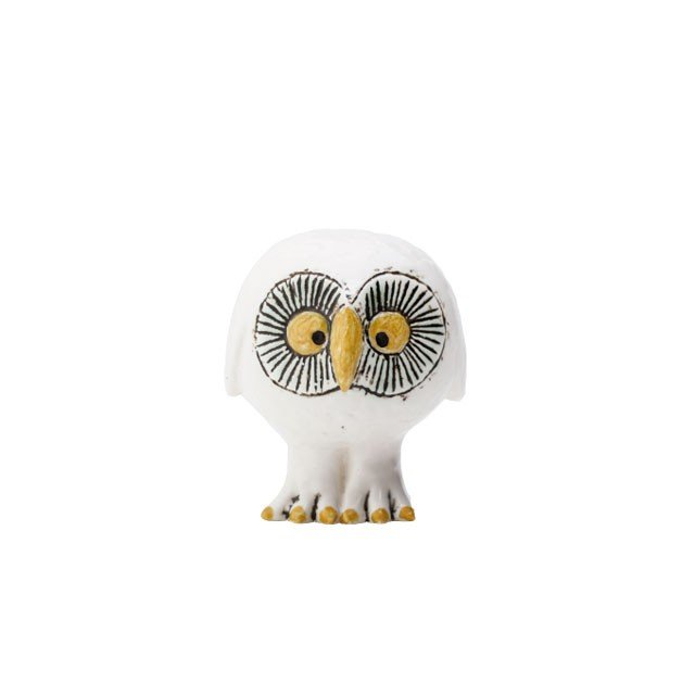 リサラーソン スウェーデンの森の白いふくろう フクロウ 陶器 置物 北欧雑貨 lisa larson conceptstore 02