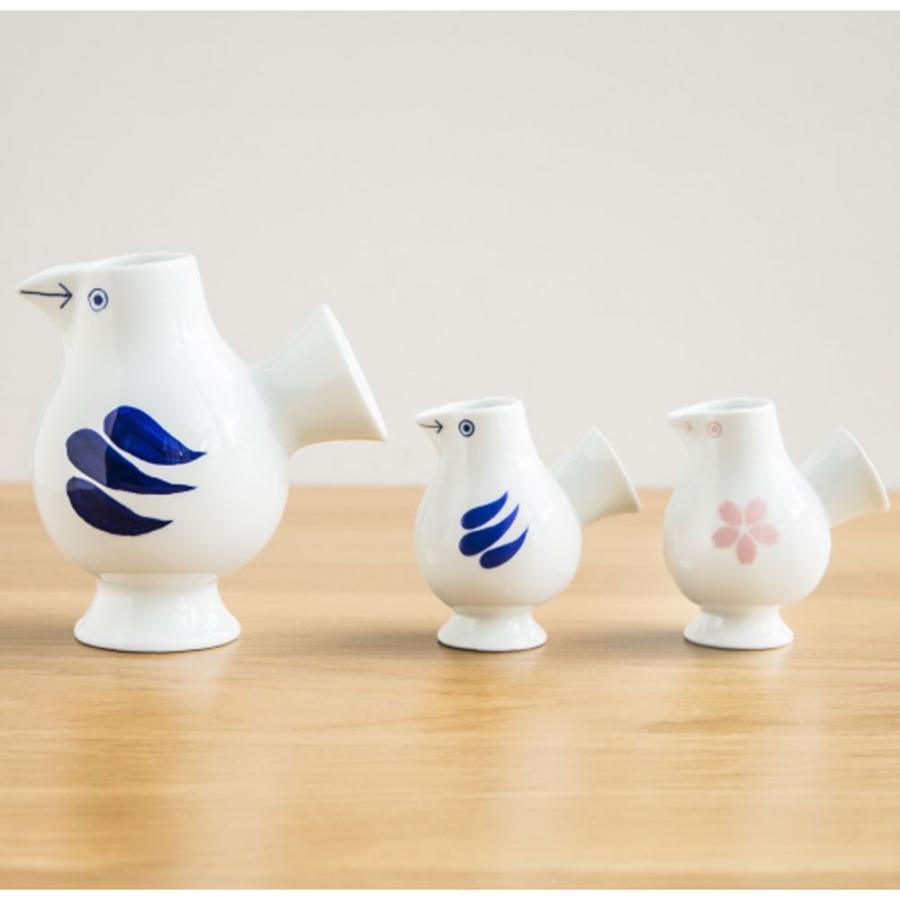リサラーソン おさけことり 青/さくら 小鳥 ミルクピッチャー ミルクポット 一輪挿し 花瓶 波佐見焼  陶器製 lisa larson conceptstore