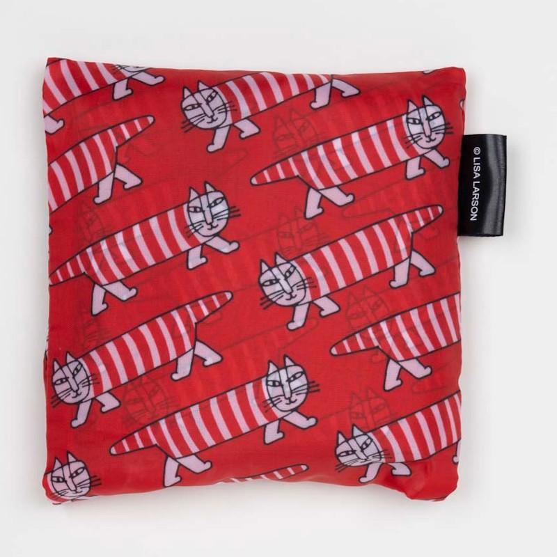 リサラーソン エコバッグ マイキー/はりねずみ3兄弟/zoo/ねこたち かばん 折り畳み サブバッグ コンパクトバッグ|conceptstore|02