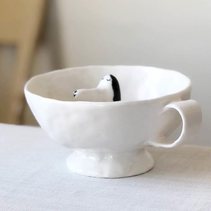 エレオノール・ボストロム ティーカップ 犬 コーヒーカップ 陶器製 北欧雑貨 Eleonor Bostrom|conceptstore