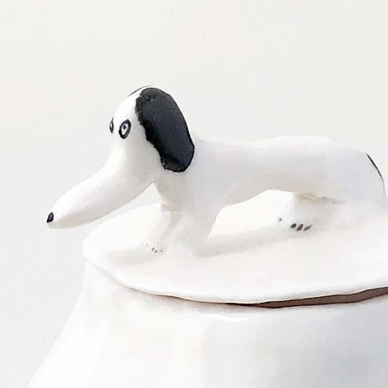 エレオノール・ボストロム コーヒーポット ティーポット 犬 ドット/ホワイト モノトーン 陶器製 北欧雑貨 Eleonor Bostrom|conceptstore|05
