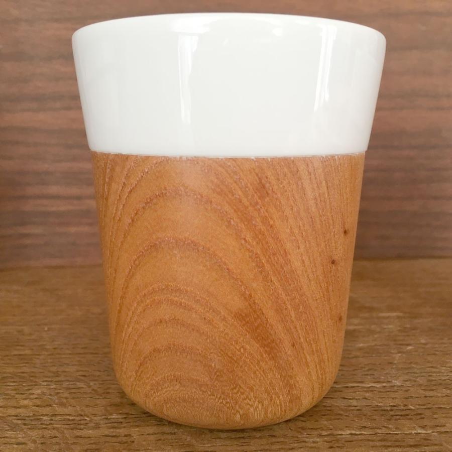 木と陶器のマグカップ 木影 ぬくもりのある木のコップー 欅/山桜 北欧インテリア ナチュラルデザイン 木の食器|conceptstore|04