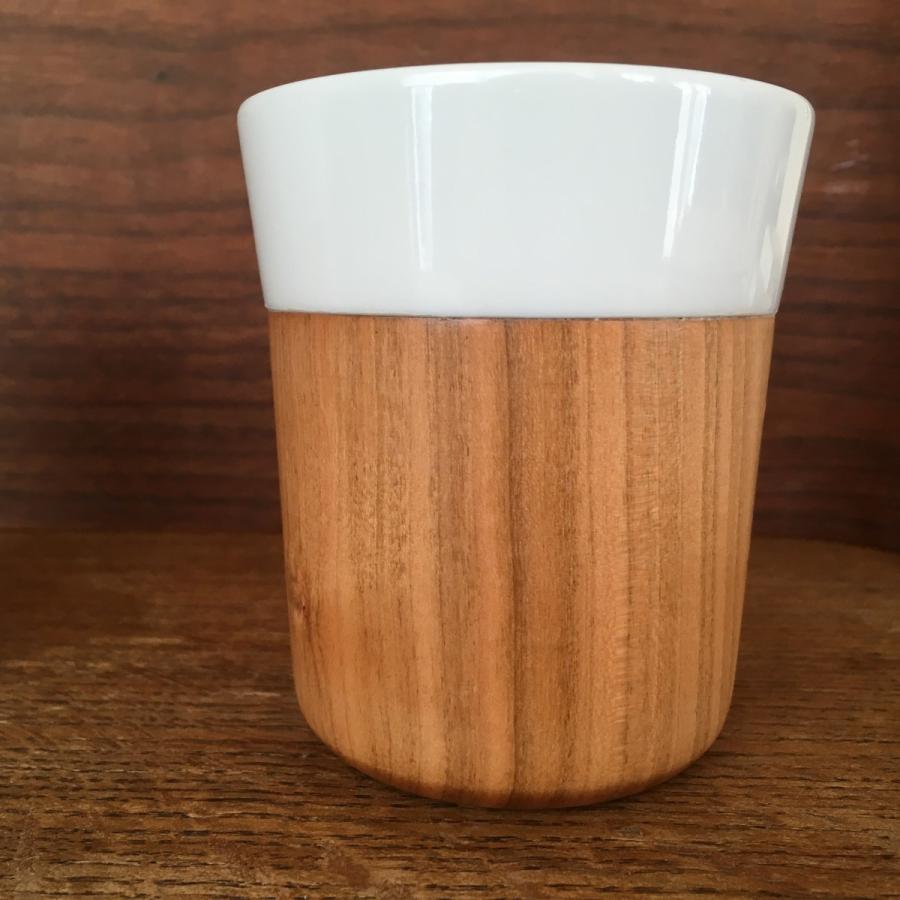 木と陶器のマグカップ 木影 ぬくもりのある木のコップー 欅/山桜 北欧インテリア ナチュラルデザイン 木の食器|conceptstore|05
