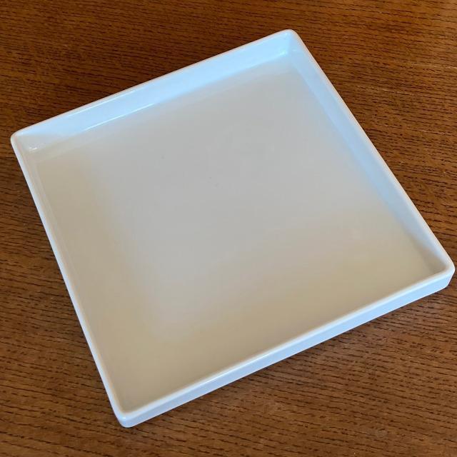 ディナープレート 妃白 21.5cm角 切立皿 美濃焼 パスタプレート 日本製 磁器 アウトレット|conceptstore|02