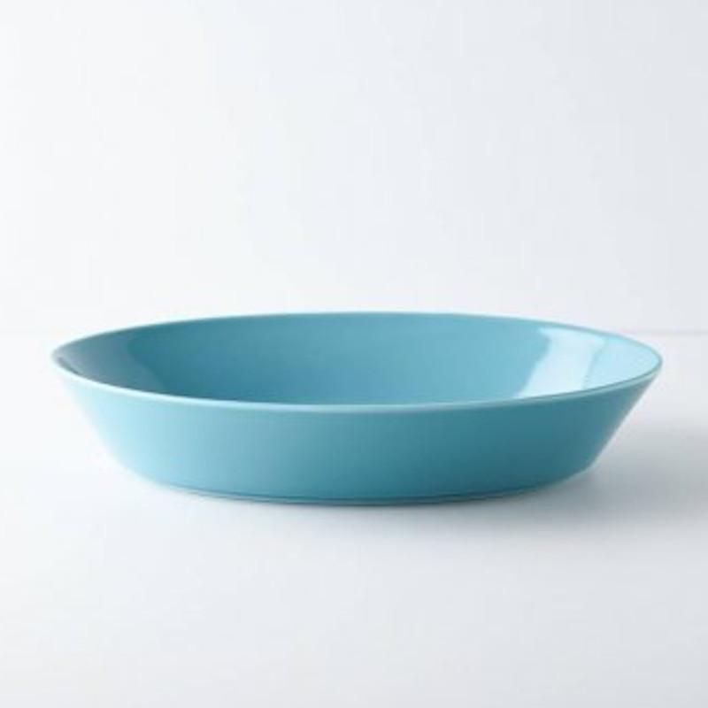 パスタ皿 カレー皿 オーバル皿 エスポ― ターコイズ/レッド 22cm 日本製 美濃焼 磁器 アウトレット conceptstore 04