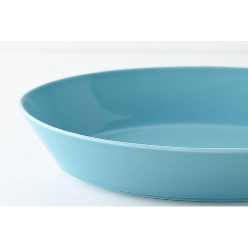 パスタ皿 カレー皿 オーバル皿 エスポ― ターコイズ/レッド 22cm 日本製 美濃焼 磁器 アウトレット conceptstore 05