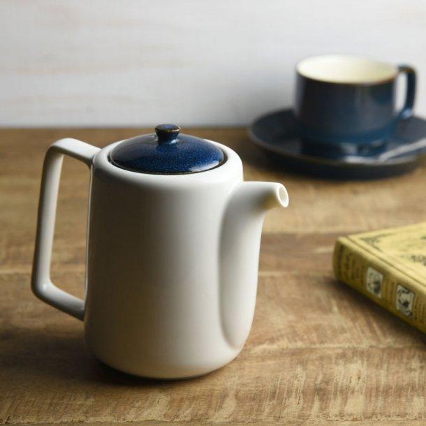 ティーポット 茶こし付き 北欧ブルー ネイビー 切立ちティーポット スーニャ型 コーヒーポット 日本製 美濃焼 conceptstore