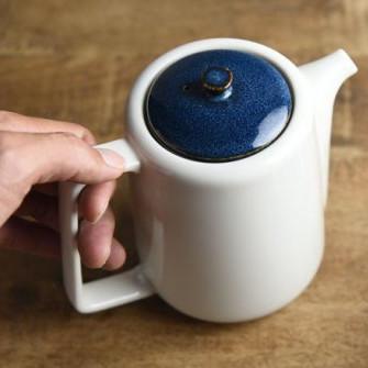 ティーポット 茶こし付き 北欧ブルー ネイビー 切立ちティーポット スーニャ型 コーヒーポット 日本製 美濃焼 conceptstore 06