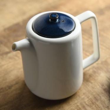ティーポット 茶こし付き 北欧ブルー ネイビー 切立ちティーポット スーニャ型 コーヒーポット 日本製 美濃焼 conceptstore 07