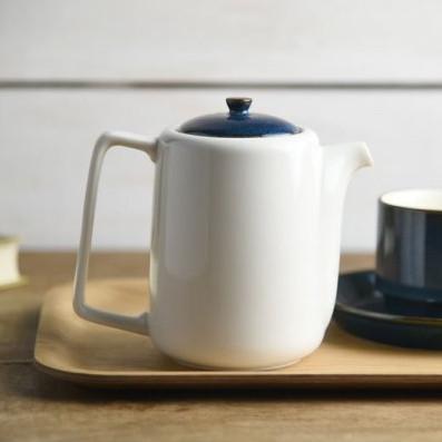 ティーポット 茶こし付き 北欧ブルー ネイビー 切立ちティーポット スーニャ型 コーヒーポット 日本製 美濃焼 conceptstore 08