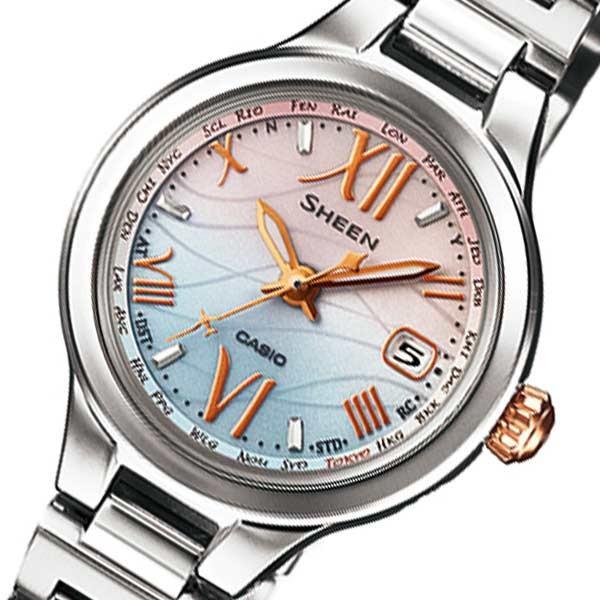 安い カシオ シーン ソーラー 腕時計 SHW-1700D-7AJF ブルー×ピンク 国内正規, サエラショップ 60364536