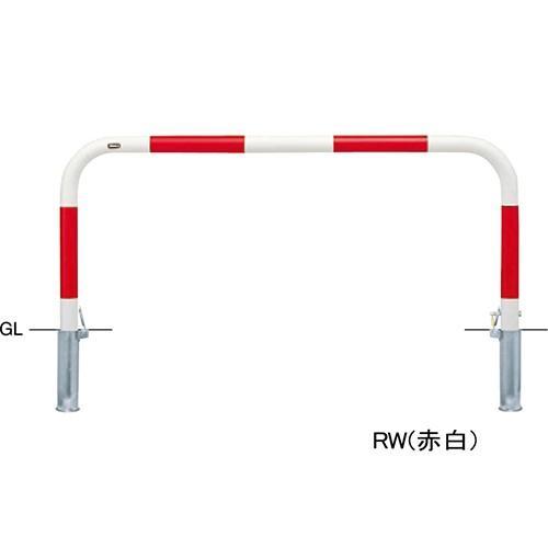 メーカー直送 サンポール アーチ 交換用本体のみ φ60.5(t2.8)×W1500×H650mm カラー:赤白 [FAA-7SK15-650(RW)HONTAI]