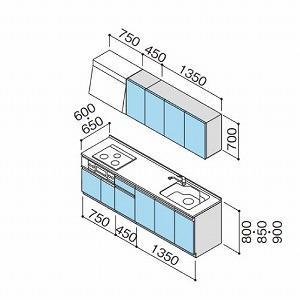 クリナップ システムキッチン ラクエラ W2550 開き扉 グランドシリーズ I型  メーカー直送 conpaneya 02