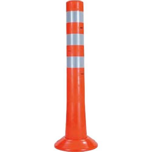 メーカー直送 サンポール ガードコーン φ80,台座径φ200×H650mm カラー:オレンジ [RBH-65(R)]