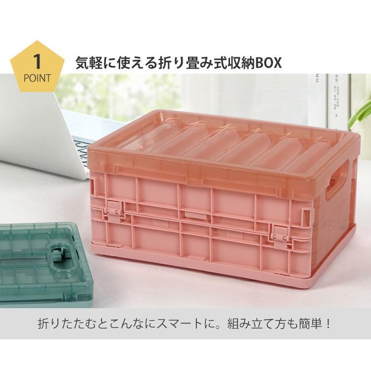 収納ボックス 折りたたみ フタ付き おしゃれ プラスチック 折り畳み conquest-store 03