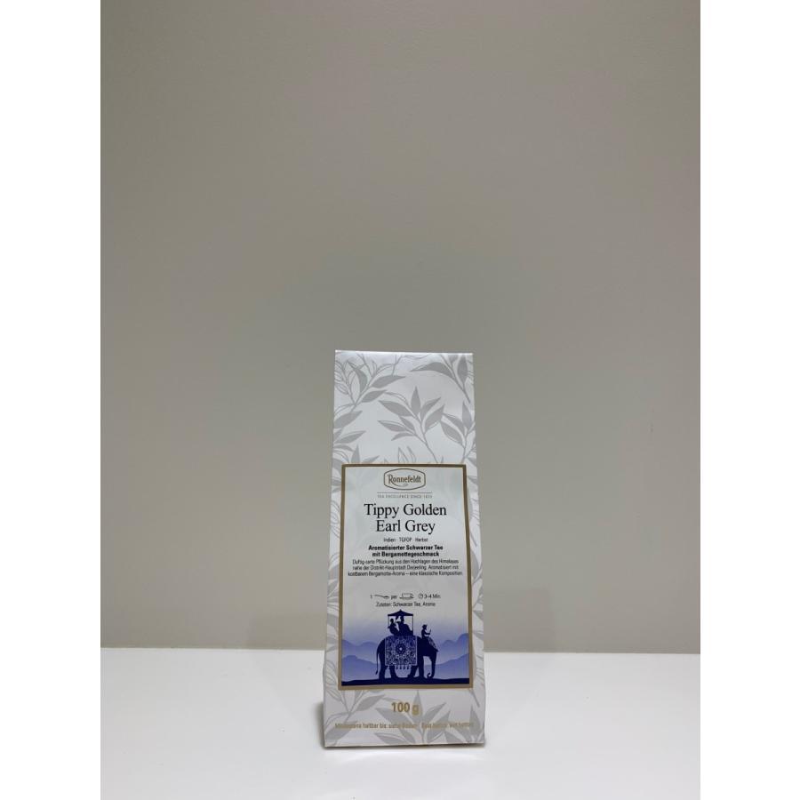 ゴールデン・ダージリン・アールグレイ 100g  TIPPY GOLDEN EARL GREY ロンネフェルト|contenart