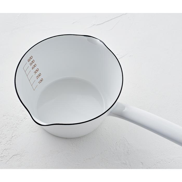 富士ホーロー 目盛付き ミルクパン 14cm ホーロー 全3色 0.8L メモリ付き 片手鍋 ホーロー鍋|cooking-clocca|03