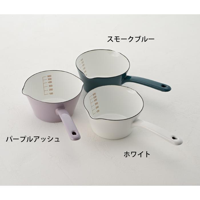 富士ホーロー 目盛付き ミルクパン 14cm ホーロー 全3色 0.8L メモリ付き 片手鍋 ホーロー鍋|cooking-clocca|04