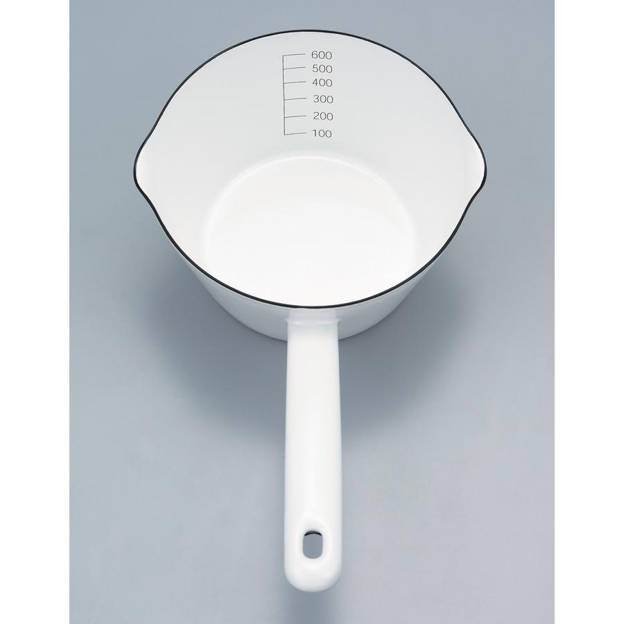 富士ホーロー 目盛付き ミルクパン 14cm ホーロー 全3色 0.8L メモリ付き 片手鍋 ホーロー鍋|cooking-clocca|08