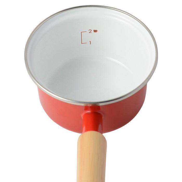 富士ホーロー ミニソースパン ポリフタ付 ホワイト/レッド 12cm 0.8L IH対応 片手鍋 ホーロー鍋 離乳食 調理器具 cooking-clocca 09