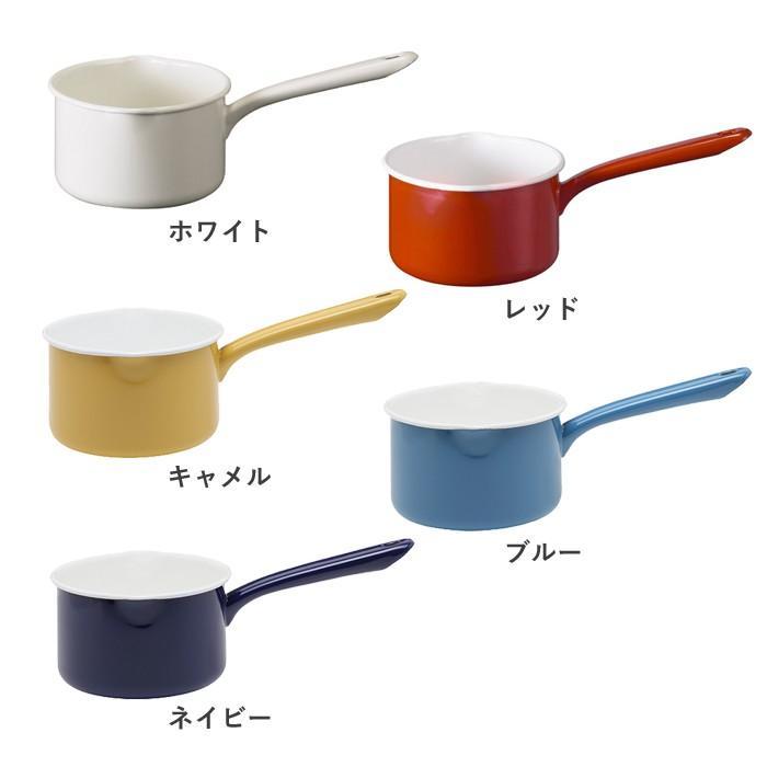 月兎印 ホーロー ミルクパン 14cm 1.2L 全5色 IH対応|cooking-clocca|03