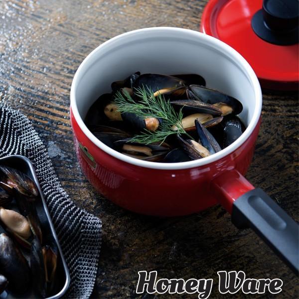 Solid ソリッド ホーロー ソースパン 18cm IH対応 富士ホーロー ハニーウェア 全5色 ホーロー鍋 片手鍋 送料無料|cooking-clocca|04