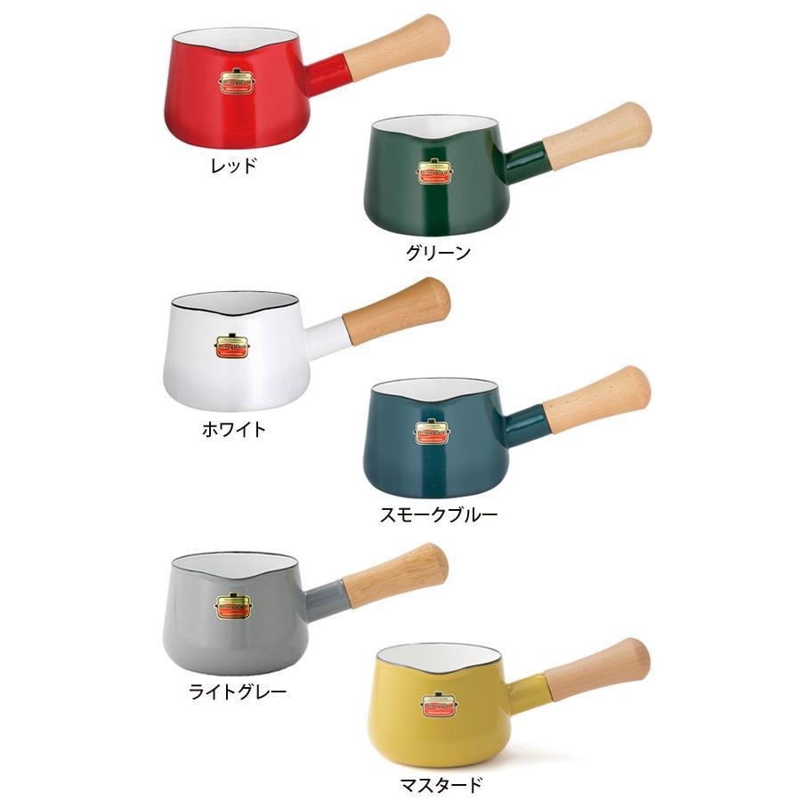Solid ソリッド ホーロー ミルクパン 12cm 0.75L 富士ホーロー 片手鍋 ホーロー鍋 離乳食 調理器具 送料無料|cooking-clocca|02