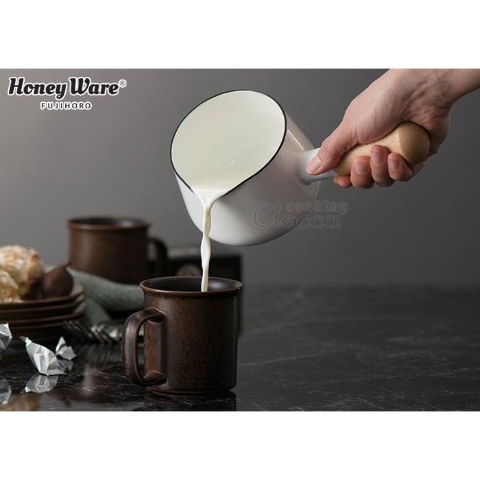 Solid ソリッド ホーロー ミルクパン 12cm 0.75L 富士ホーロー 片手鍋 ホーロー鍋 離乳食 調理器具 送料無料|cooking-clocca|03