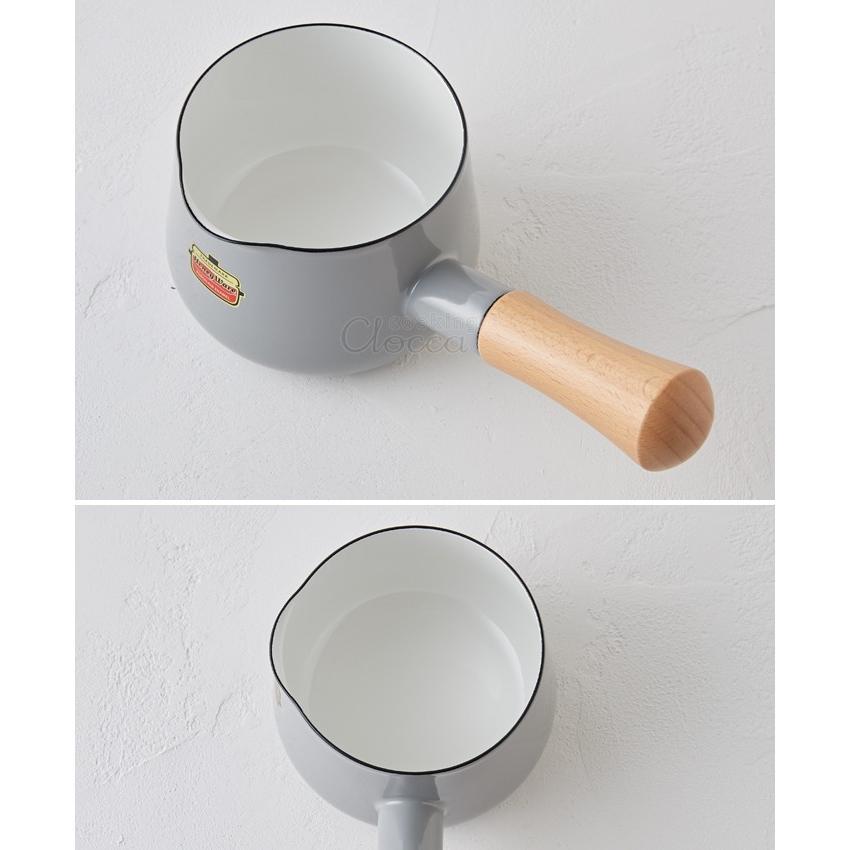 Solid ソリッド ホーロー ミルクパン 12cm 0.75L 富士ホーロー 片手鍋 ホーロー鍋 離乳食 調理器具 送料無料|cooking-clocca|04