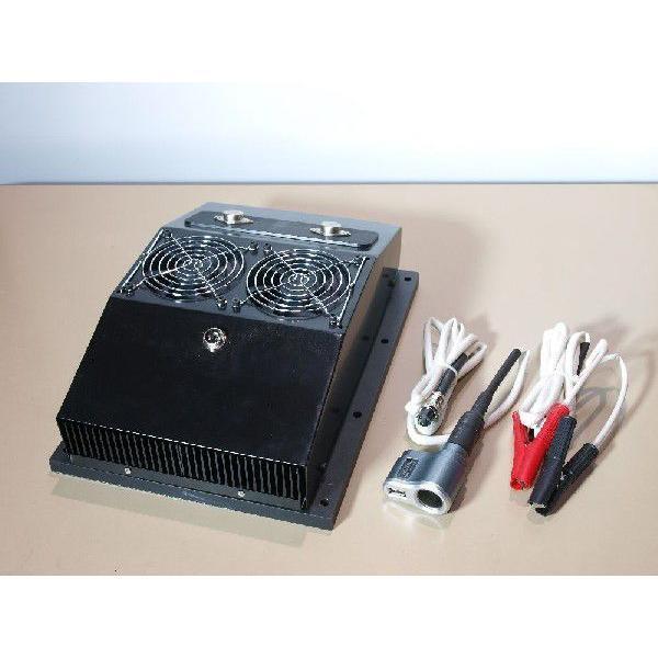熱電発電機 薪ストーブに載せて発電+自己発電でファンを回し温風を送風 coolisland