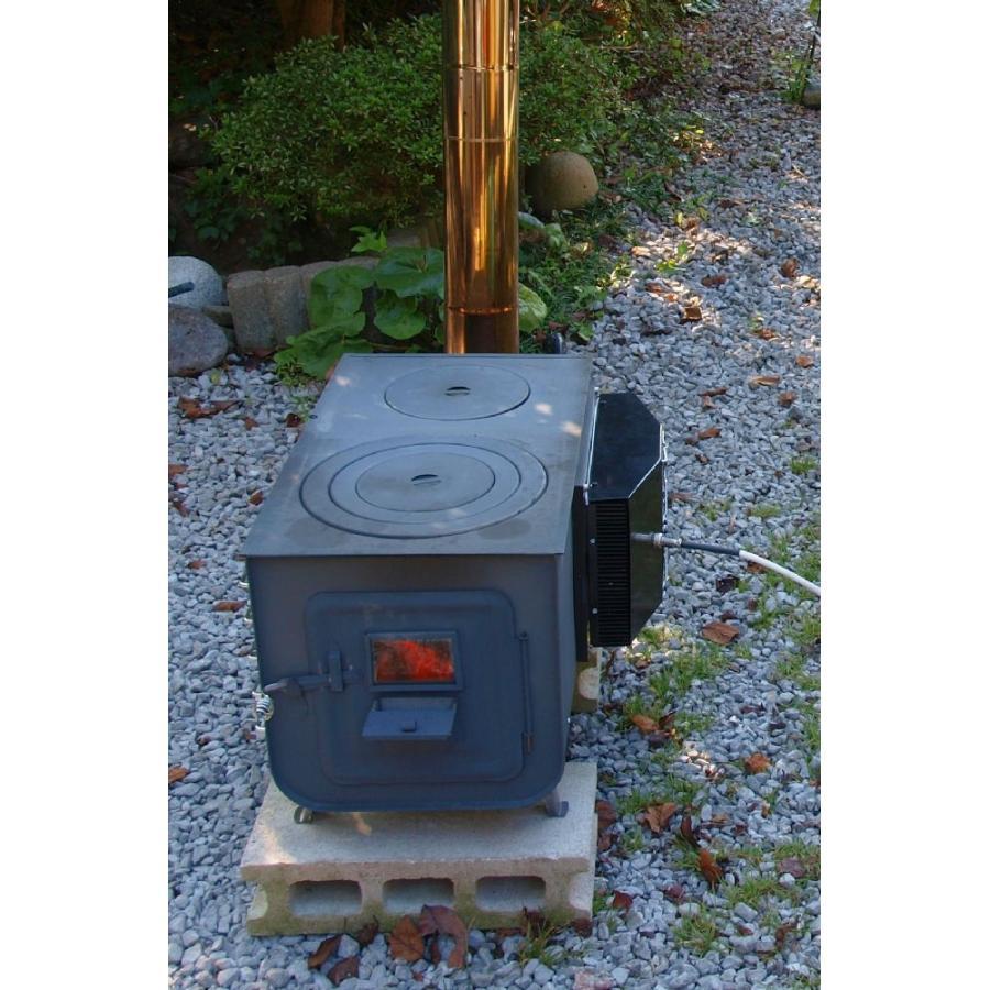 熱電発電機 薪ストーブに載せて発電+自己発電でファンを回し温風を送風 coolisland 03