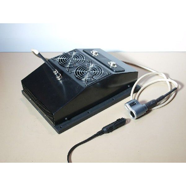 熱電発電機 薪ストーブに載せて発電+自己発電でファンを回し温風を送風 coolisland 05
