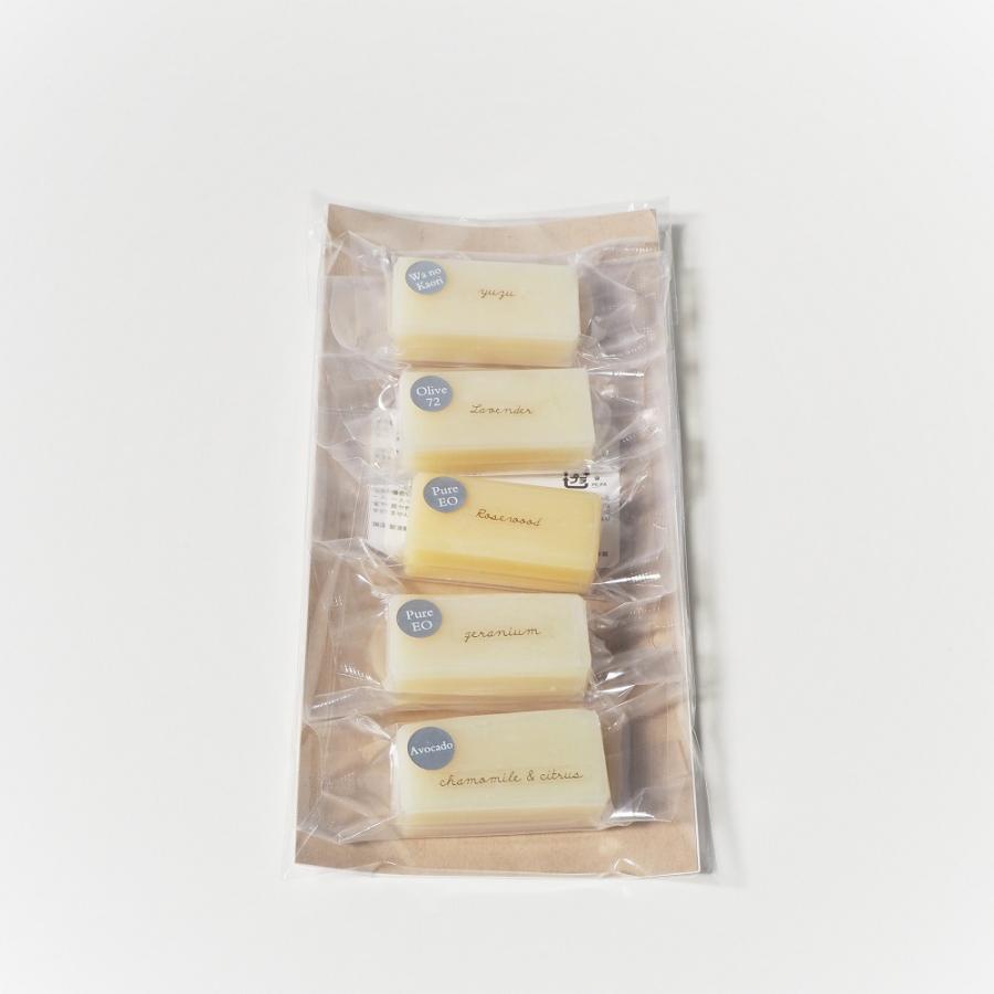 お試し 石けん 5セレクションパック 洗顔石鹸 固形石鹸 自然派 コールドプロセス 手作り せっけん ギフト セット 日本製 coona 02