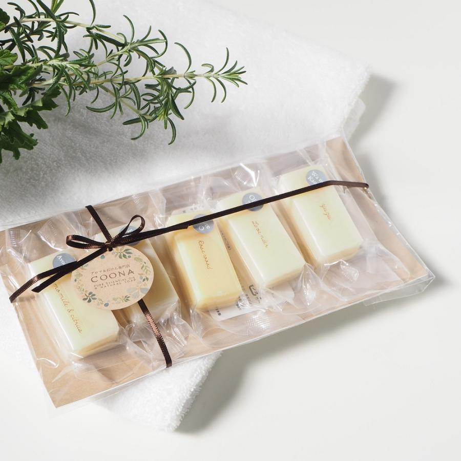 お試し 石けん 5セレクションパック 洗顔石鹸 固形石鹸 自然派 コールドプロセス 手作り せっけん ギフト セット 日本製 coona 04