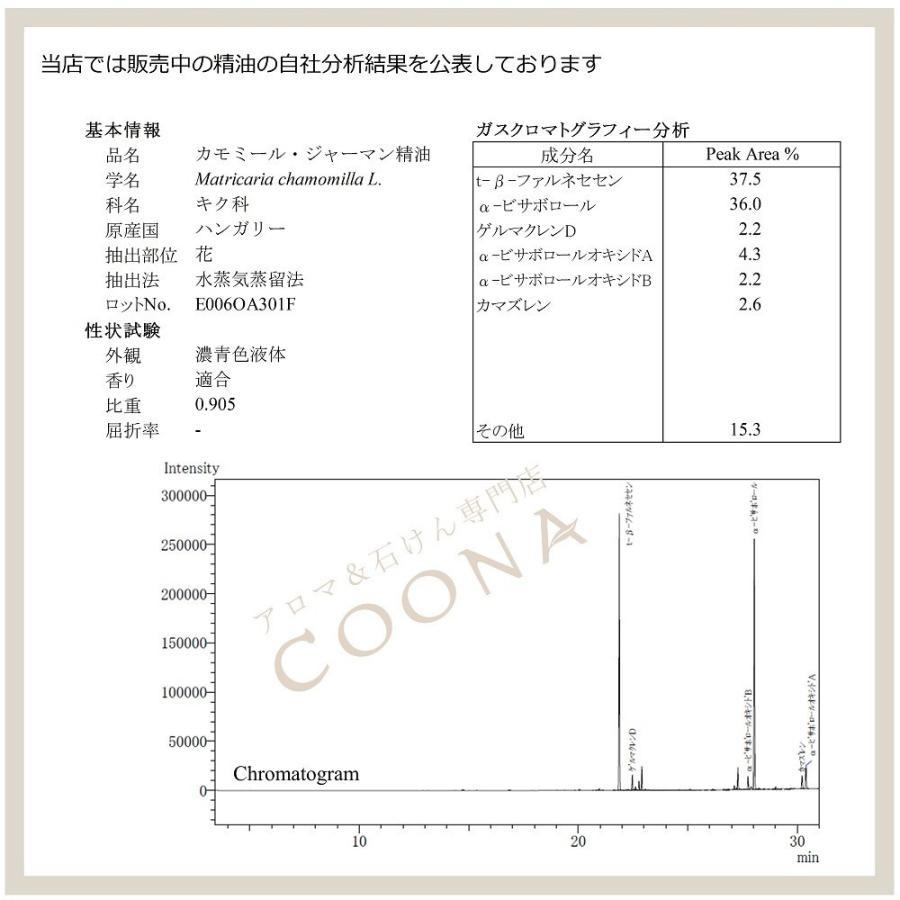 カモミール ジャーマン 3 ml エッセンシャルオイル アロマオイル 精油 送料無料 coona 02