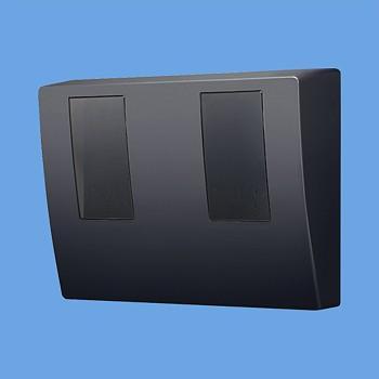 電設資材 パナソニック BQKN8325B WHMボックスブラック 隠蔽配線用 2コ用 [∽]