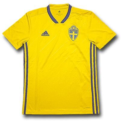 <アディダス>スウェーデン代表 ホーム 2018/20 半袖ユニフォーム