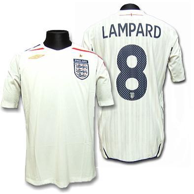 【アンブロ】2007/09イングランド ホーム #8・ランパード 半袖ユニフォーム