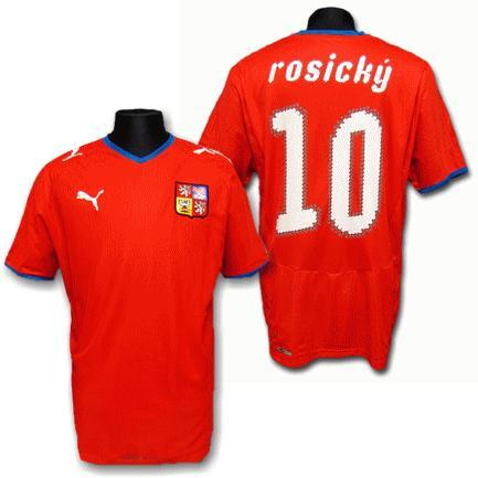 2008/10チェコ ホーム #10・ロシツキー 半袖ユニフォーム<プーマ> copa-mundial