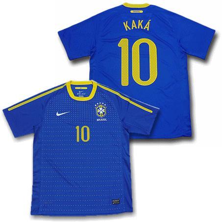 【ナイキ】2010ブラジル アウェイ #10・カカー 半袖ユニフォーム