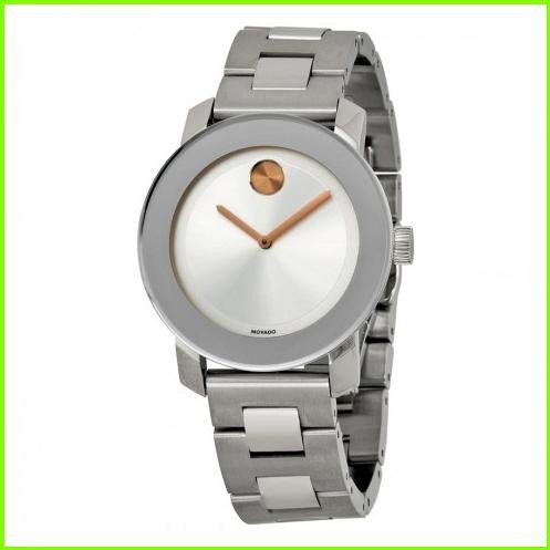 割引購入 Bold Silver Dial Stainless Steel Watch モバード WOMEN レディース, ケルヒャー公式 d9730212