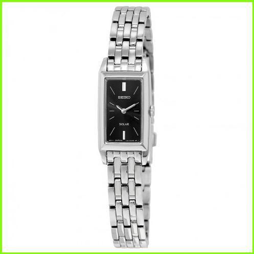 【60%OFF】 Solar Black Dial Stainless Steel Ladies Watch セイコー WOMEN レディース, ミルキー薬局 da161534