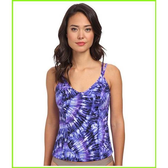 Miraclesuit Fan Dance Malibu Top Miraclesuit Swimsuit Tops WOMEN レディース Eggplant 紫の