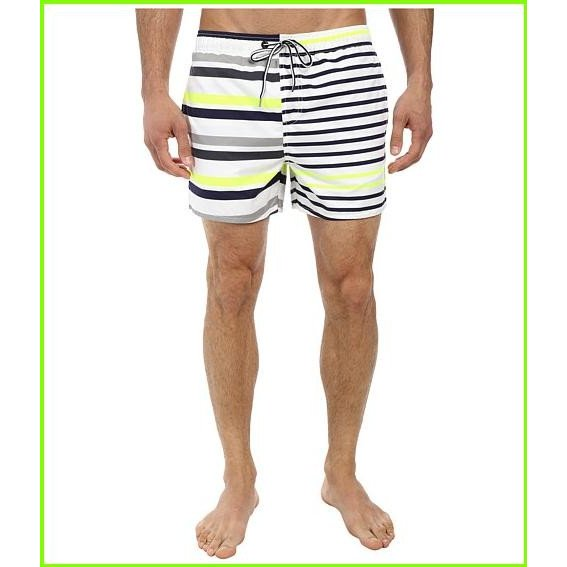 French Connection Multilex Stripe Drawstring フレンチコネクション Swimsuit Bottoms MEN メンズ Fluro Yellow