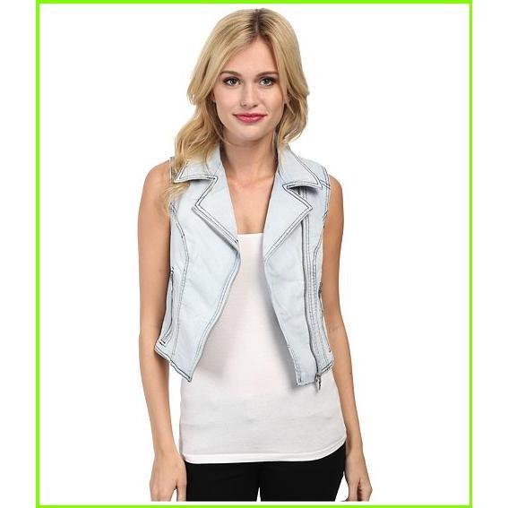 【日本限定モデル】 Sam Edelman Denim Vest サム エデルマン Blazers & Jackets WOMEN レディース Light Blue, テントシートの職人工房 6383d6db